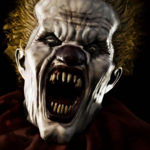 Escape room a Cagliari horror il clown a bocca aperta