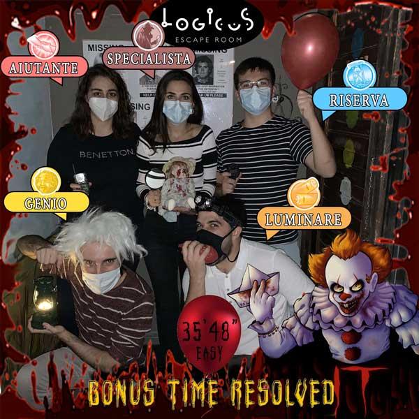 bonus time resolved on special