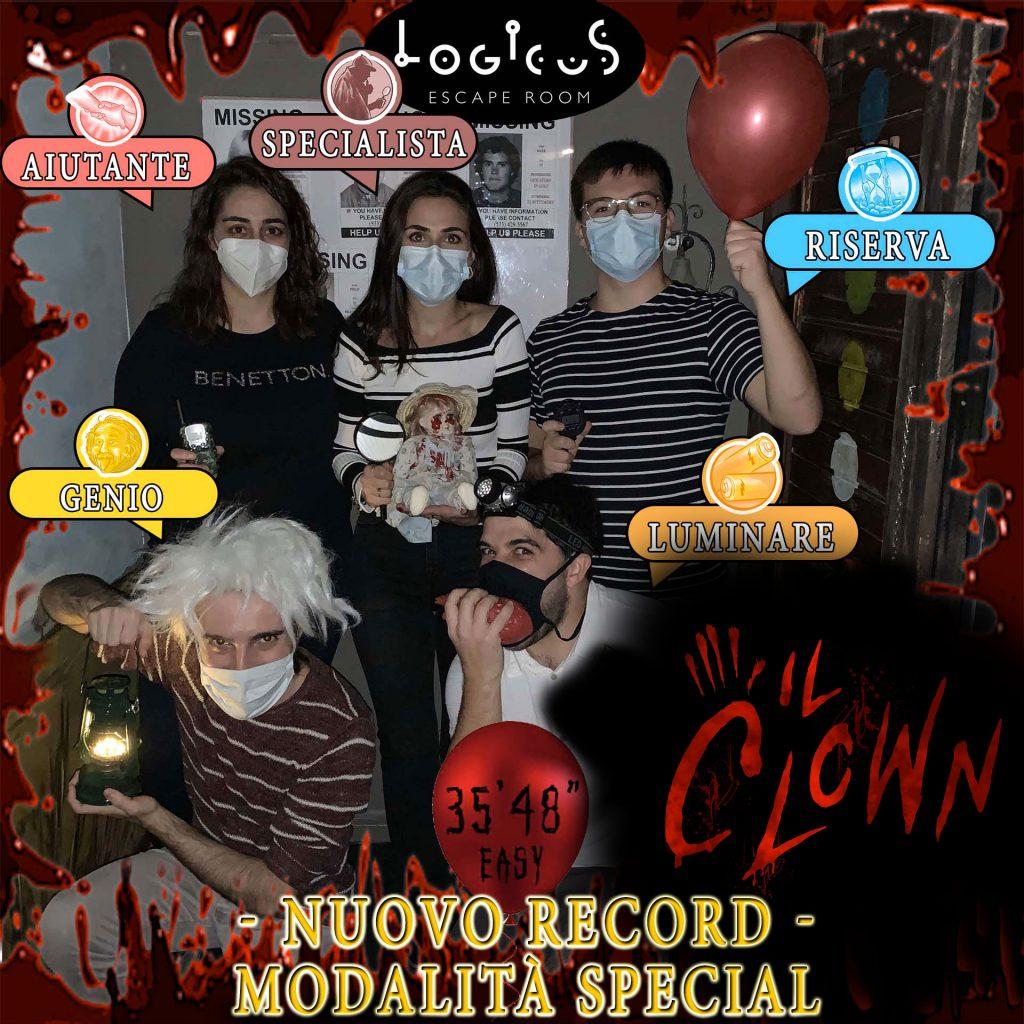 escape room cagliari i migliori Record del Clown in Easy